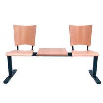 Halbank 2-zits met tafel