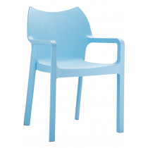 stapelbare stoel diva blauw